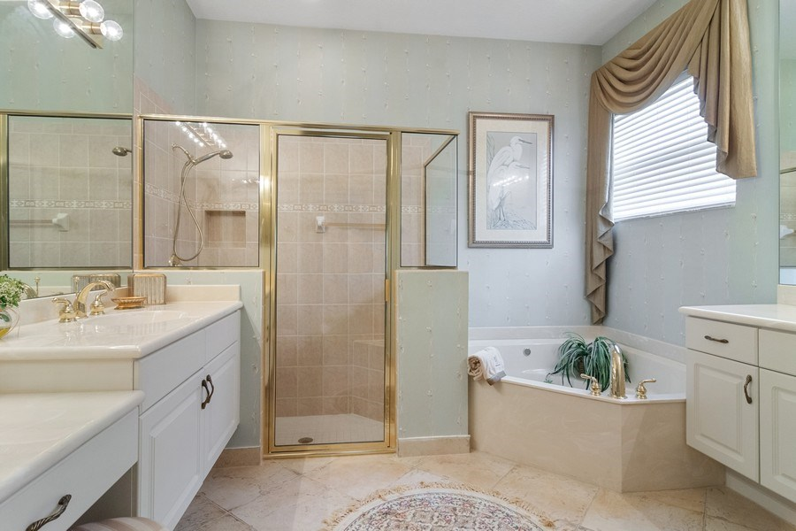Real Estate Photography - 405 NW Springview Loop, Port St. Lucie, FL, 34986 - Master Bathroom