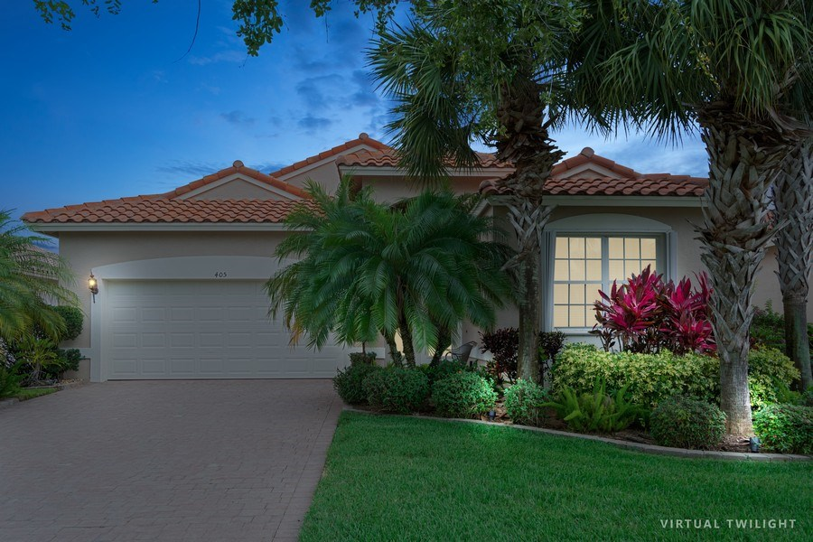 Real Estate Photography - 405 NW Springview Loop, Port St. Lucie, FL, 34986 - Front View