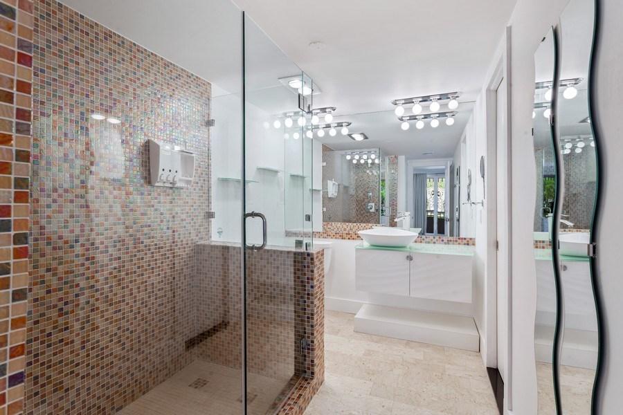 Real Estate Photography - 2 GROVE ISLE DR. #B201-02, MIAMI, FL, 33133 - 3rd Bathroom