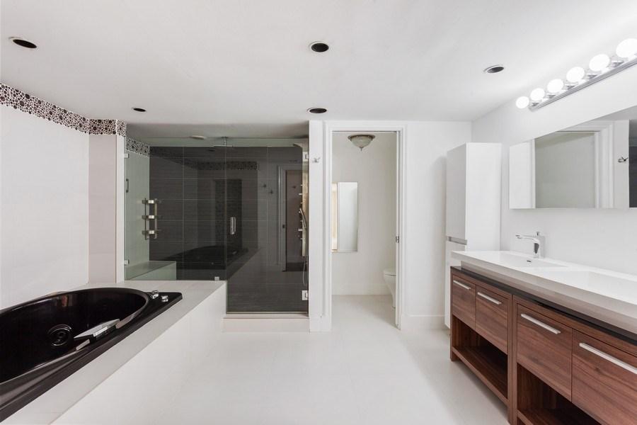 Real Estate Photography - 2 GROVE ISLE DR. #B201-02, MIAMI, FL, 33133 - Master Bathroom