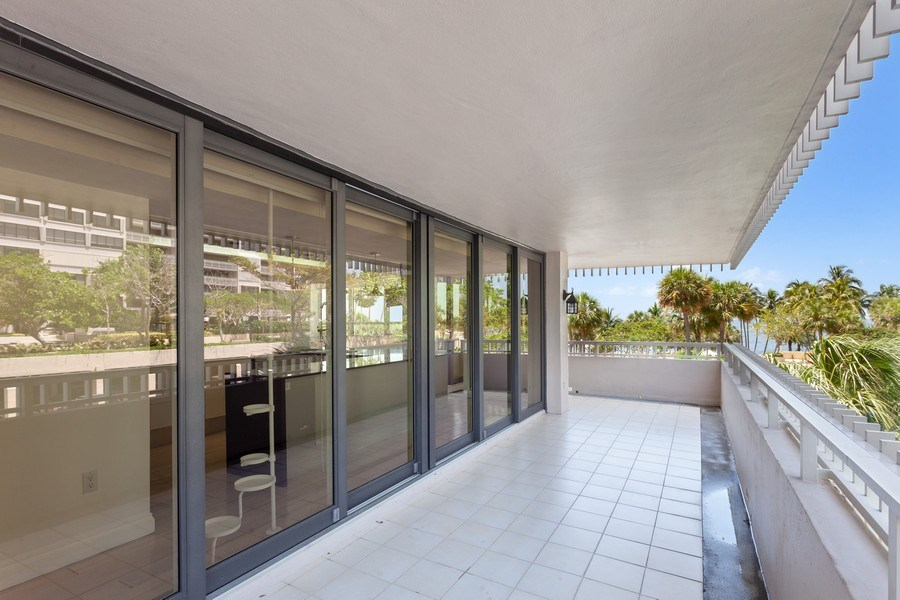 Real Estate Photography - 2 GROVE ISLE DR. #B201-02, MIAMI, FL, 33133 - Balcony