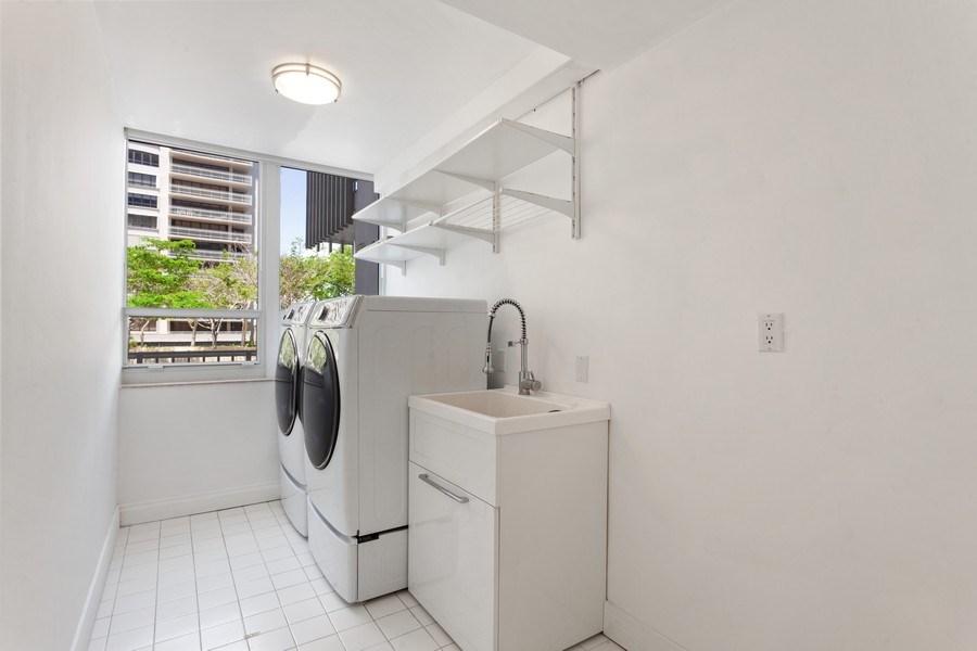 Real Estate Photography - 2 GROVE ISLE DR. #B201-02, MIAMI, FL, 33133 - Laundry Room