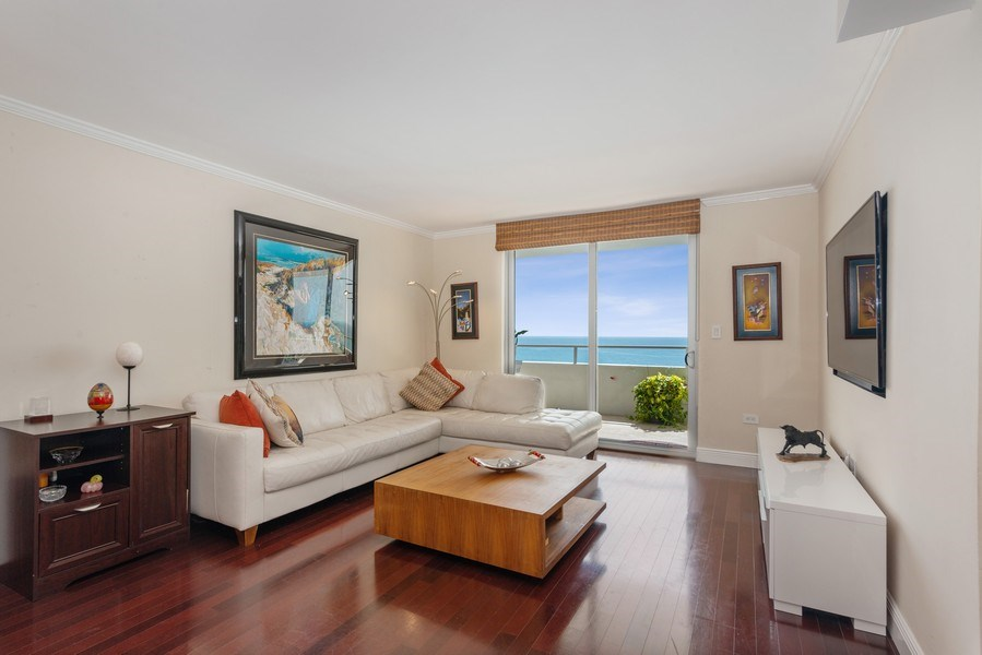 Real Estate Photography - 5555 Collins Ave, 10J, Miami Beach, FL, 33140 - Living Room