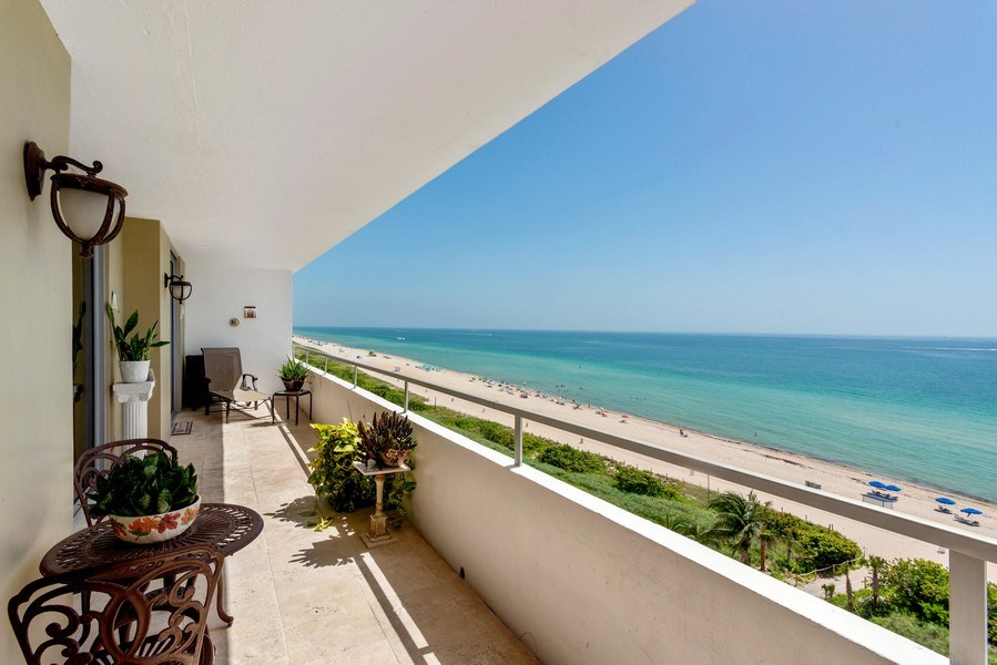 Real Estate Photography - 5555 Collins Ave, 10J, Miami Beach, FL, 33140 - Terrace