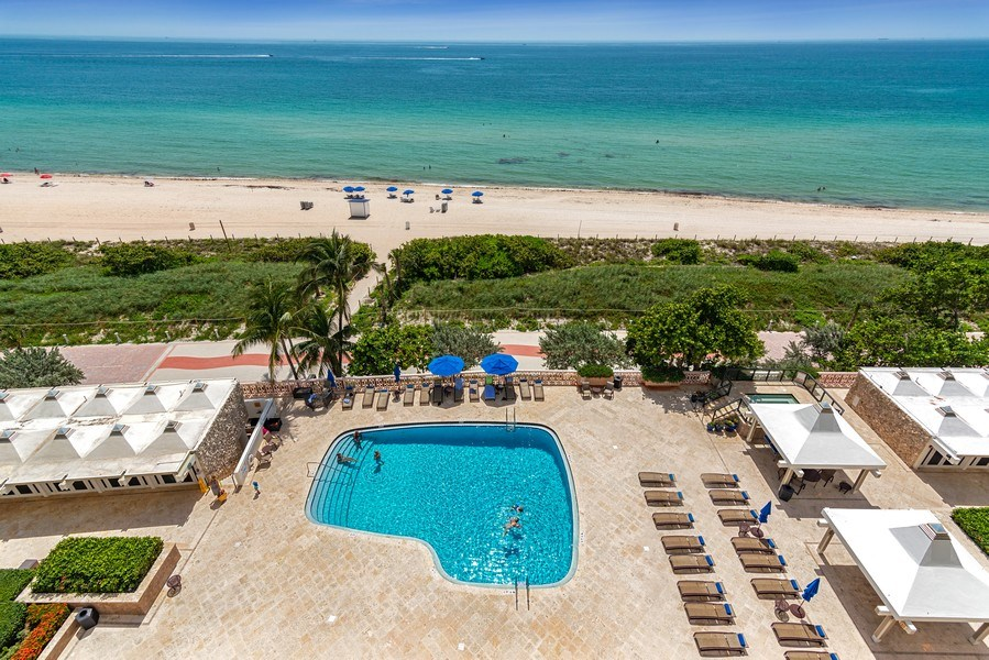 Real Estate Photography - 5555 Collins Ave, 10J, Miami Beach, FL, 33140 - Pool