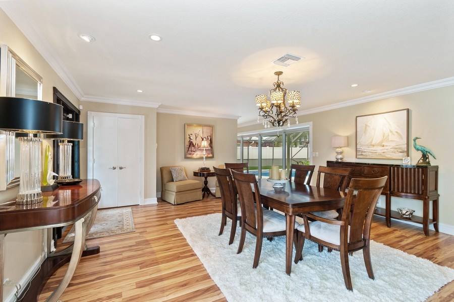 Real Estate Photography - 2113 NE 63rd St, Fort Lauderdale, FL, 33308 - Dining Room