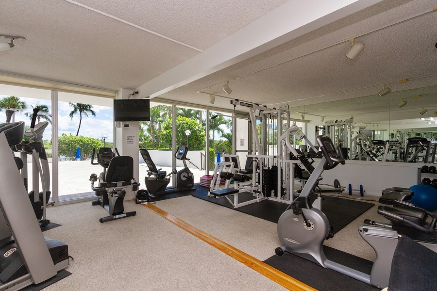 Real Estate Photography - 4750 S Ocean Blvd, Unit 605, Highland Bch, FL, 33487 - Gym