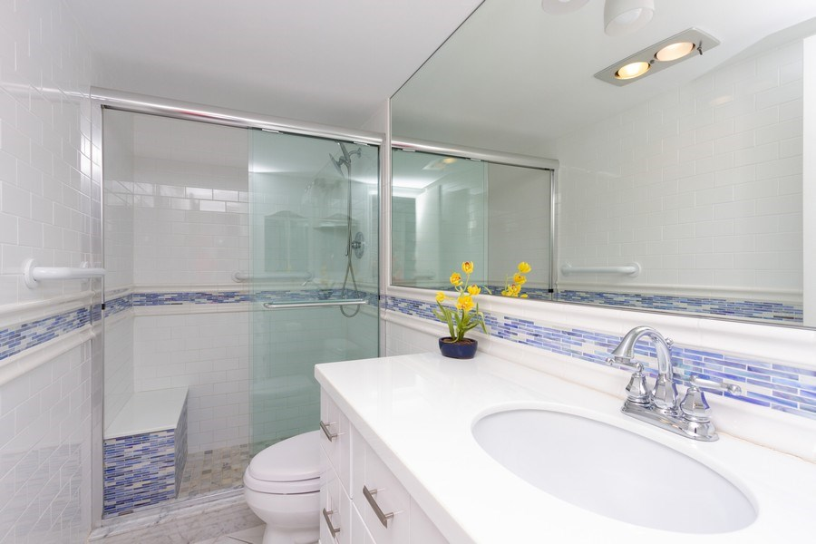 Real Estate Photography - 4750 S Ocean Blvd, Unit 605, Highland Bch, FL, 33487 - 2nd Bathroom