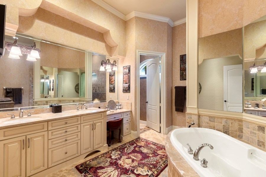 Real Estate Photography - 9311 Vittoria Ct., Fort Myers, FL, 33912 - Master Bathroom
