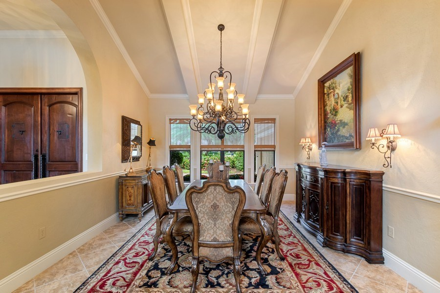 Real Estate Photography - 9311 Vittoria Ct., Fort Myers, FL, 33912 - Dining Room