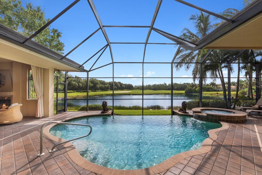 Real Estate Photography - 9311 Vittoria Ct., Fort Myers, FL, 33912 - Pool