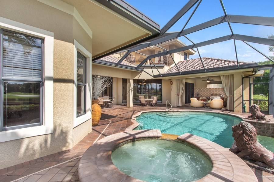 Real Estate Photography - 9311 Vittoria Ct., Fort Myers, FL, 33912 - Pool/Spa