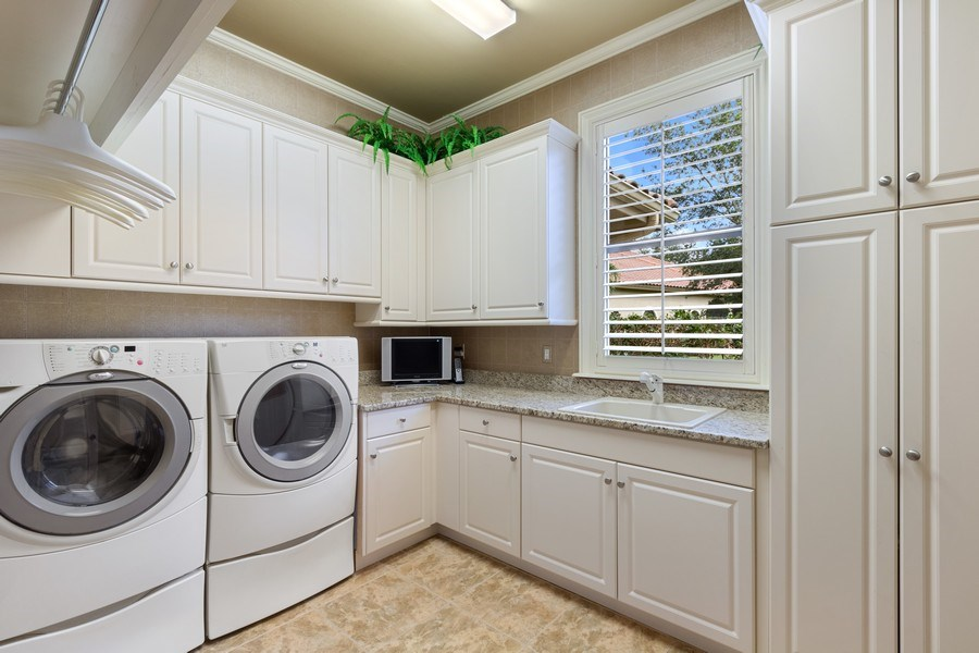 Real Estate Photography - 9311 Vittoria Ct., Fort Myers, FL, 33912 - Laundry Room