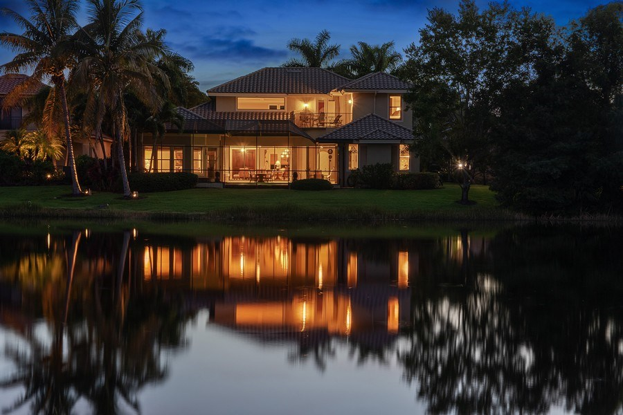 Real Estate Photography - 9311 Vittoria Ct., Fort Myers, FL, 33912 - Rear View