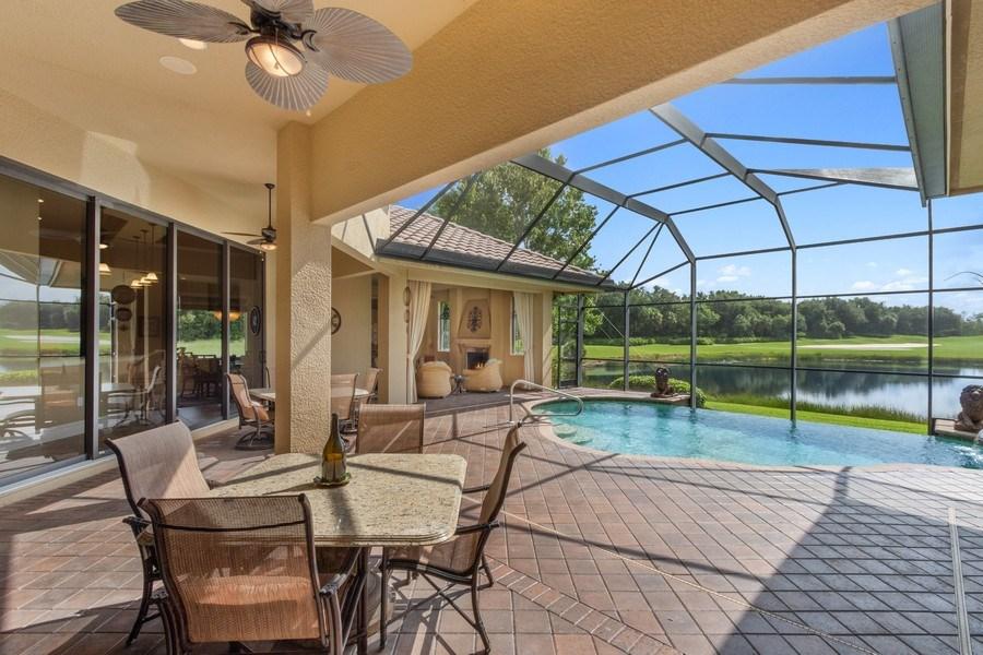 Real Estate Photography - 9311 Vittoria Ct., Fort Myers, FL, 33912 - Lanai