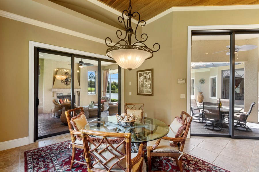 Real Estate Photography - 9311 Vittoria Ct., Fort Myers, FL, 33912 - Breakfast Nook
