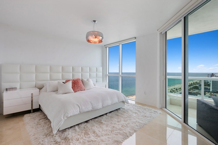 Real Estate Photography - 101 S. Fort Lauderdale Beach Blvd, APARTMENT 2107, FORT LAUDERDALE, FL, 33316 - Master Bedroom