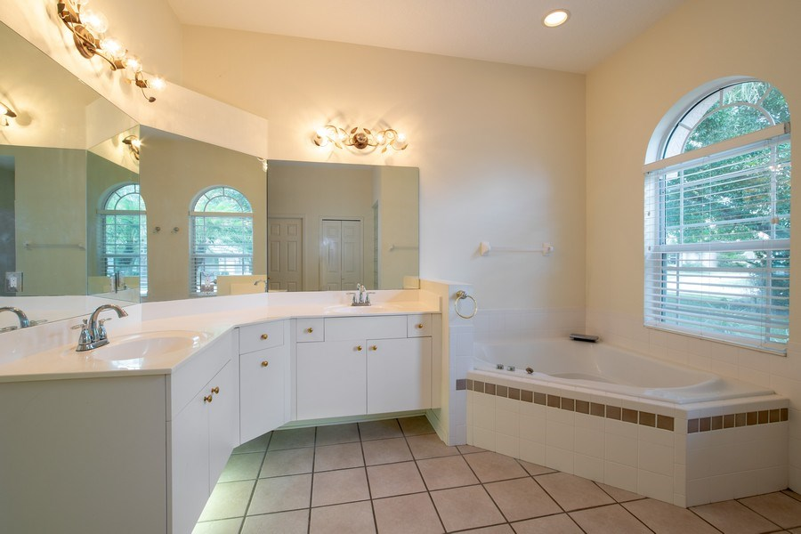 Real Estate Photography - 445 Hightower, DeBary, FL, 32713 - Master Bathroom