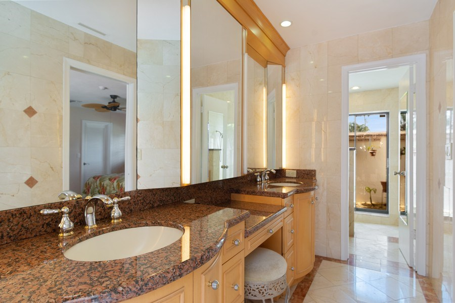 Real Estate Photography - 1430 NW 99th Ave, Plantation,, FL, 33322 - Master Bathroom