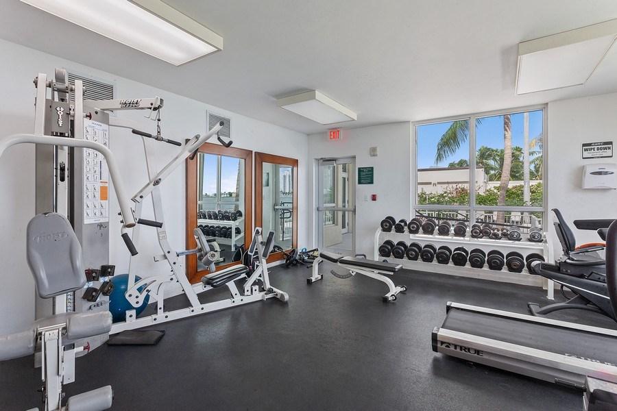 Real Estate Photography - 1625 Kennedy Causeway, Apt.1001E, North Bay Village, FL, 33141 - Gym