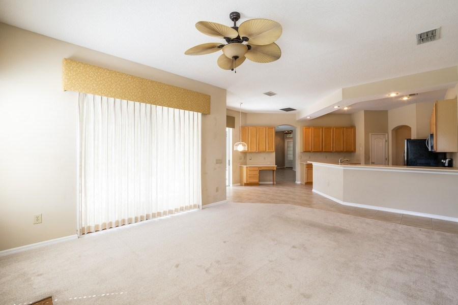 Real Estate Photography - 1187 Falling Pine, Winter Springs, FL, 32708 - FAMILY ROOM  OPENS TO POOL