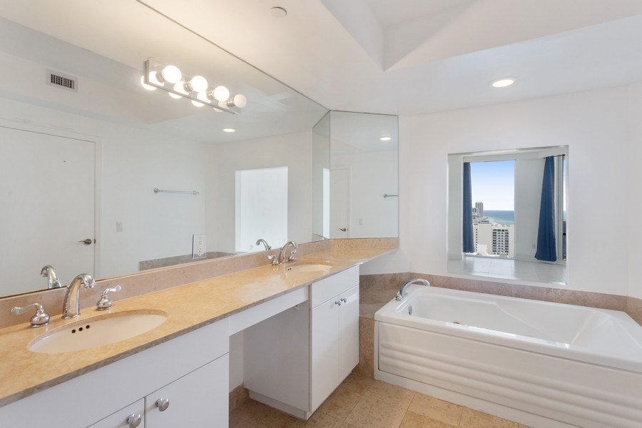 Real Estate Photography - 4779 Collins Ave, Unit 3408, Miami Beach, FL, 33140 - Master Bathroom