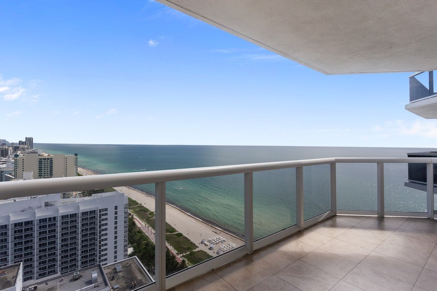 Real Estate Photography - 4779 Collins Ave, Unit 3408, Miami Beach, FL, 33140 - Balcony