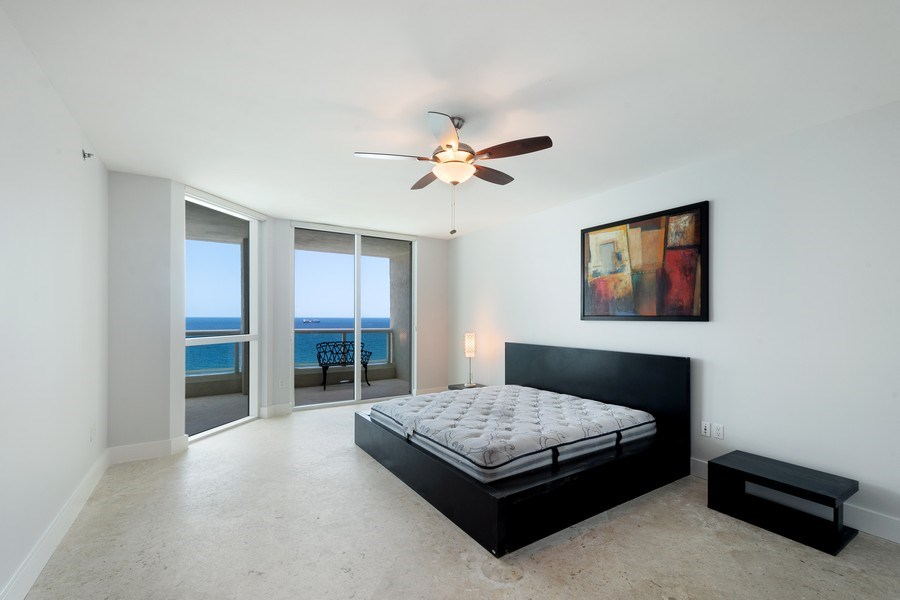 Real Estate Photography - 101 S Fort Lauderdale Beach Blvd, Apt 1803, Fort Lauderdale, FL, 33301 - Master Bedroom