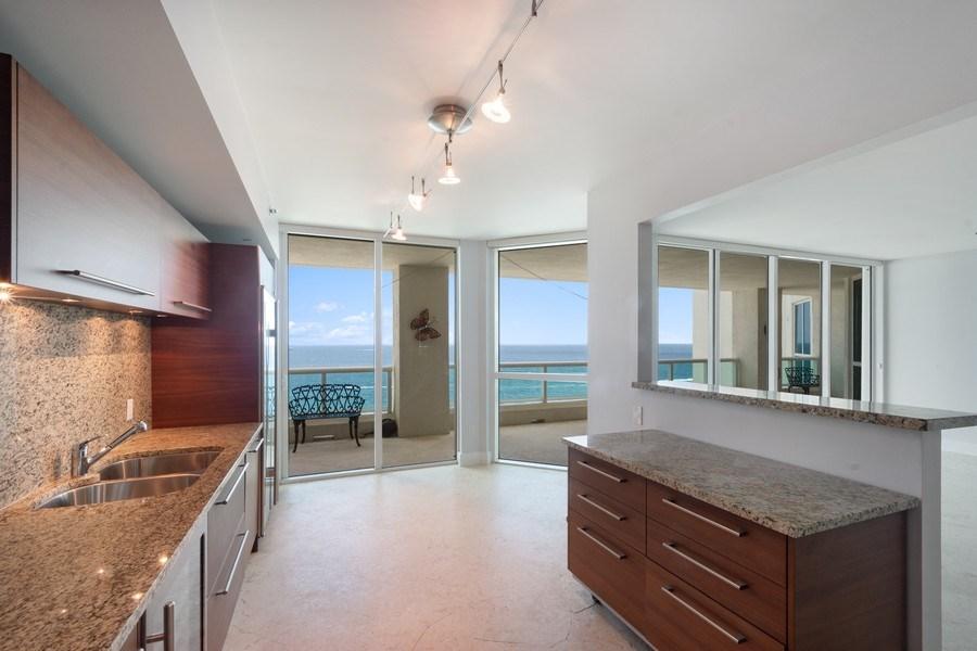 Real Estate Photography - 101 S Fort Lauderdale Beach Blvd, Apt 1803, Fort Lauderdale, FL, 33301 - Kitchen