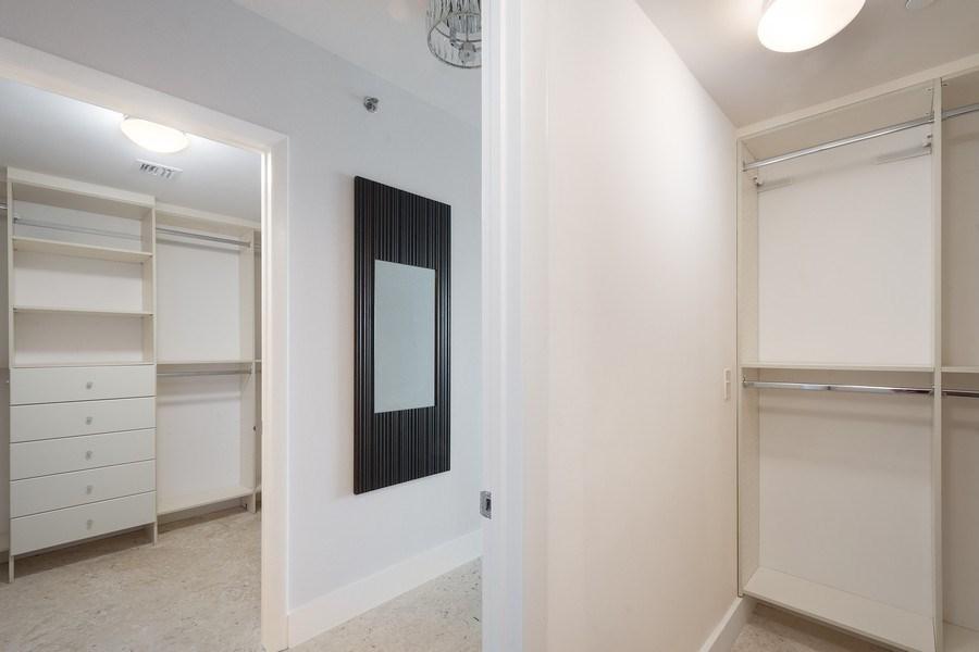 Real Estate Photography - 101 S Fort Lauderdale Beach Blvd, Apt 1803, Fort Lauderdale, FL, 33301 - Master Bedroom Closet