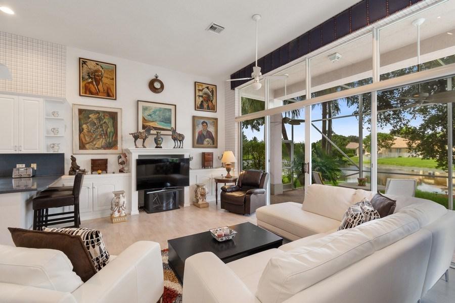 Real Estate Photography - 3741 E Lake Estates Drive, Davie, FL, 33328 - Family Room