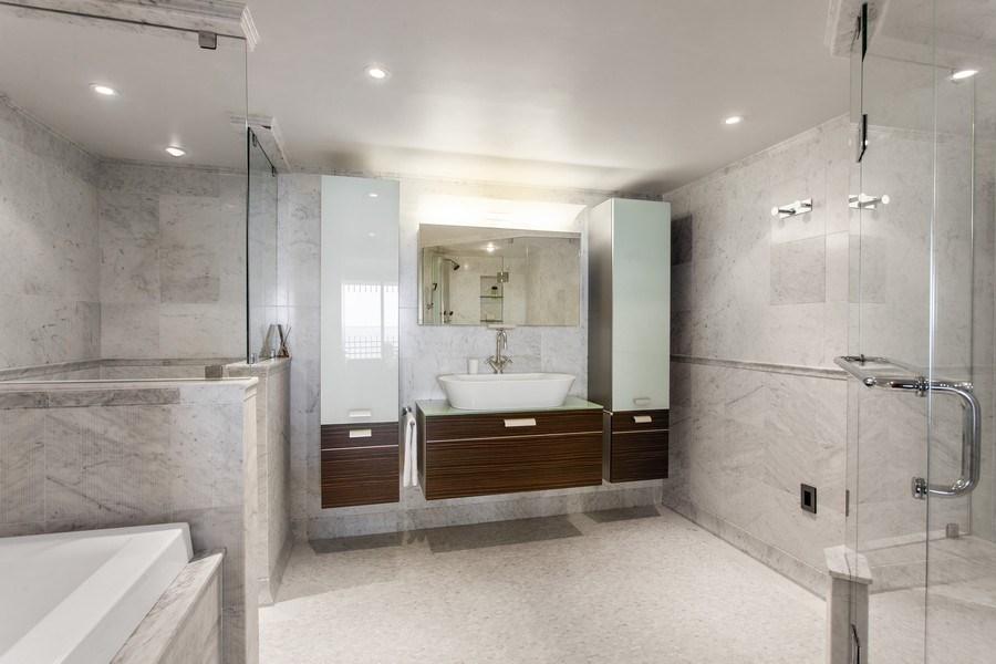 Real Estate Photography - 3 Grove Isle Dr. #C601, Miami, FL, 33133 - #31 Master Bathroom