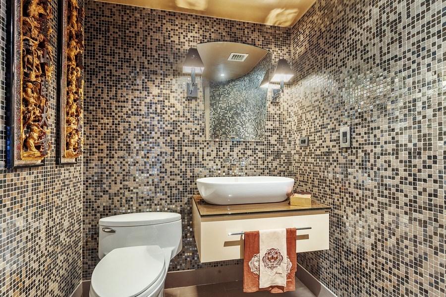 Real Estate Photography - 3 Grove Isle Dr. #C601, Miami, FL, 33133 - #49 New Half Bathroom