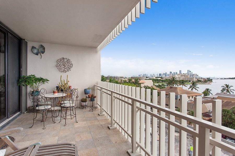 Real Estate Photography - 3 Grove Isle Dr. #C601, Miami, FL, 33133 - #41 Balcony