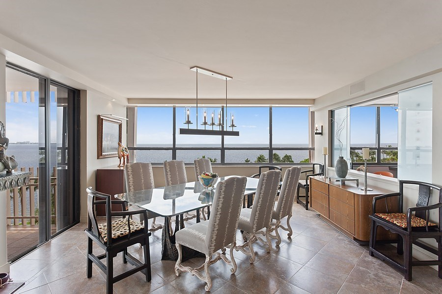 Real Estate Photography - 3 Grove Isle Dr. #C601, Miami, FL, 33133 - #15 Dining room