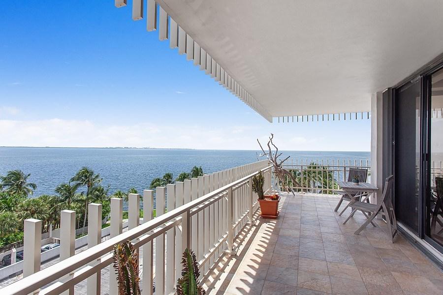 Real Estate Photography - 3 Grove Isle Dr. #C601, Miami, FL, 33133 - #40 Balcony