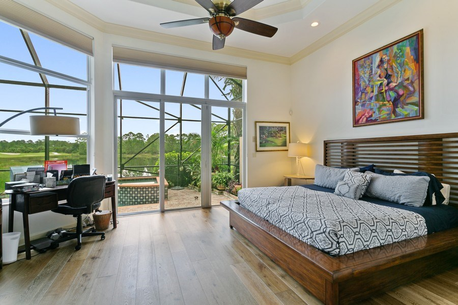 Real Estate Photography - 312 Porto Vecchio Way, Palm Beach Gardens, FL, 33418 - Master Bedroom