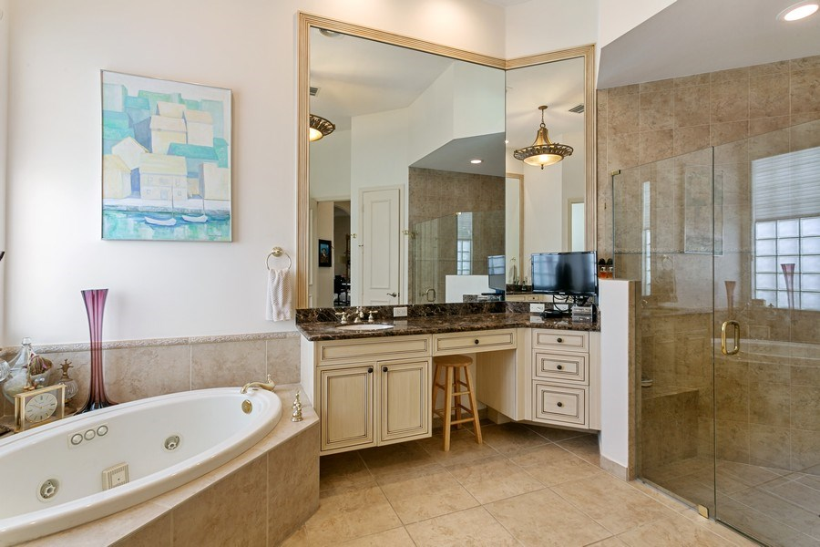 Real Estate Photography - 312 Porto Vecchio Way, Palm Beach Gardens, FL, 33418 - Master Bathroom