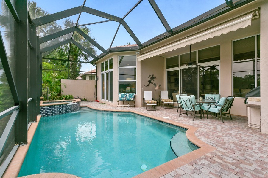 Real Estate Photography - 312 Porto Vecchio Way, Palm Beach Gardens, FL, 33418 - Pool