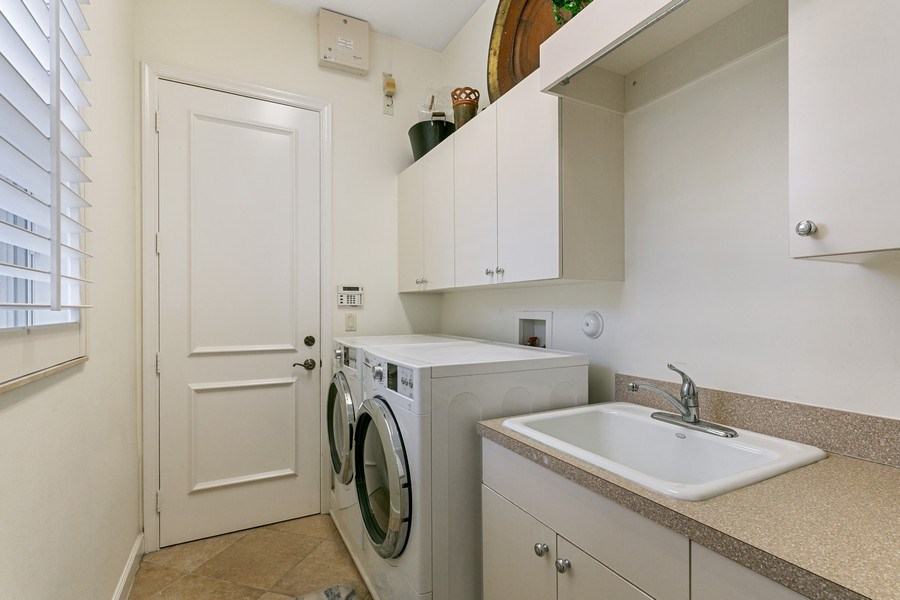 Real Estate Photography - 312 Porto Vecchio Way, Palm Beach Gardens, FL, 33418 - Laundry Room