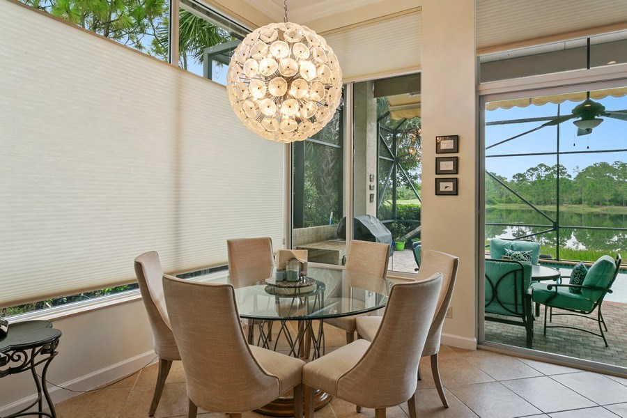 Real Estate Photography - 312 Porto Vecchio Way, Palm Beach Gardens, FL, 33418 - Breakfast Nook