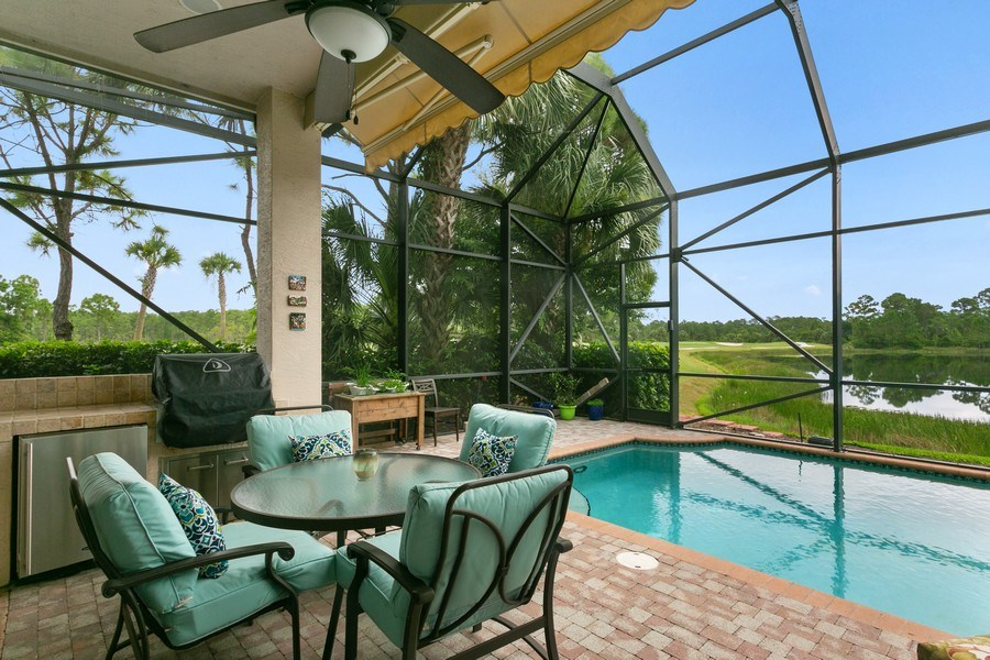 Real Estate Photography - 312 Porto Vecchio Way, Palm Beach Gardens, FL, 33418 - Patio