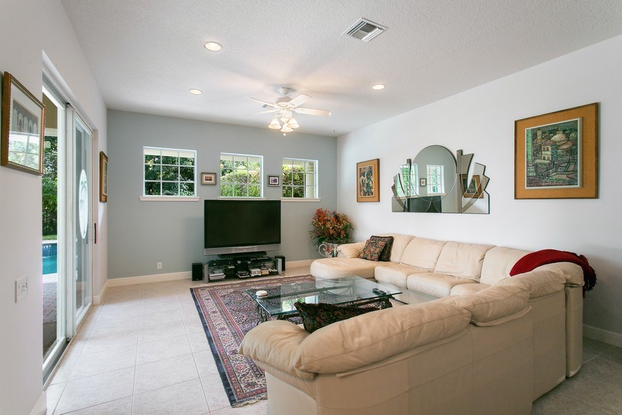 Real Estate Photography - 735 Charlestown Circle, Palm Beach Gardens, FL, 33410 - Family Room