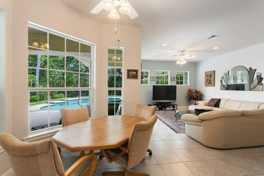 Real Estate Photography - 735 Charlestown Circle, Palm Beach Gardens, FL, 33410 - Breakfast Area