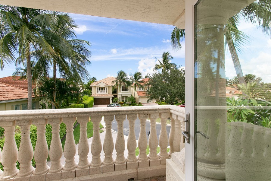 Real Estate Photography - 735 Charlestown Circle, Palm Beach Gardens, FL, 33410 - Balcony