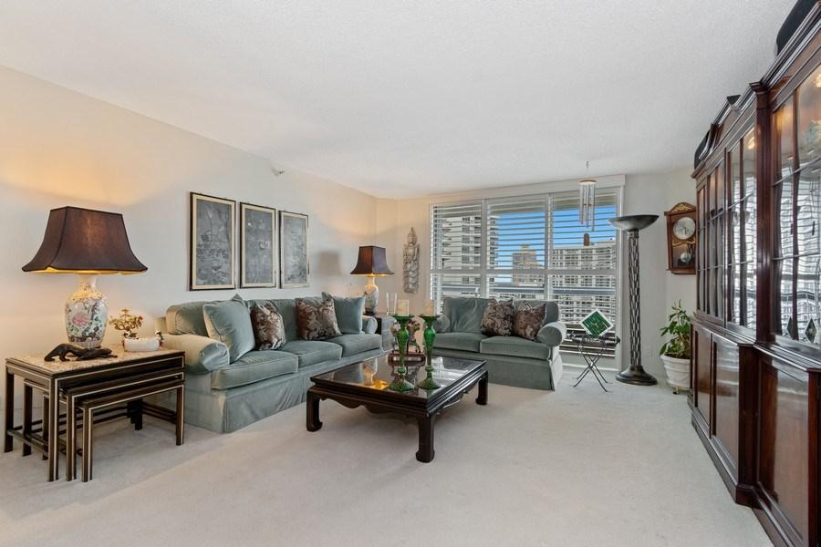 Real Estate Photography - 19195 Mystic Pointe Dr, Apt 2202, Aventura, FL, 33180 - Living Room