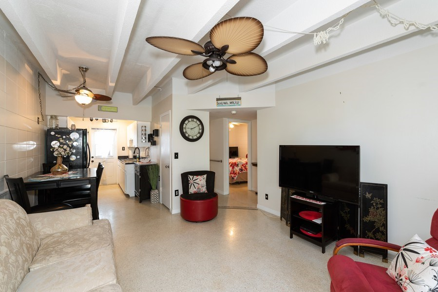 Real Estate Photography - 430 Wilson Avenue, Unit 2, Cocoa Beach, FL, 32931 - Family Room
