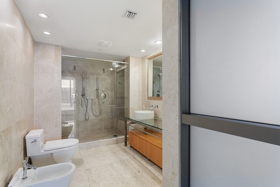 Real Estate Photography - 6000 collins Ave, 301, Miami Beach, FL, 33140 - Master Bathroom