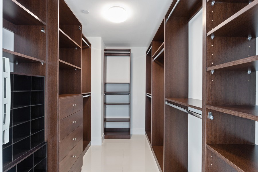 Real Estate Photography - 6000 collins Ave, 301, Miami Beach, FL, 33140 - Master Bedroom Closet
