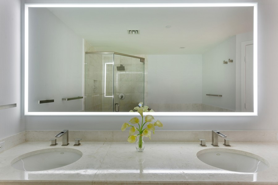 Real Estate Photography - 901 Brickell Key Blvd #2203, Miami, FL, 33131 - Master Bathroom